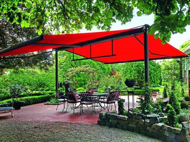 Mái che di động đôi cho sân vườn